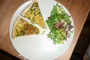 Spinach, Bacon and Onion Quiche